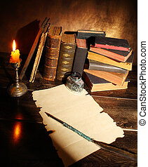 livros, antigas