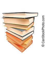 livros, antigas, pilha