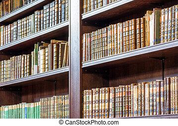 livros, biblioteca, antigas