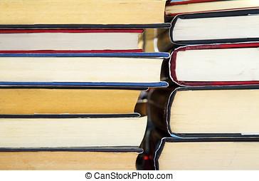 livros, cobertura, difícil, antigas, pilha
