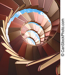 livros, espiral