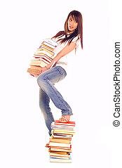livros, estudante
