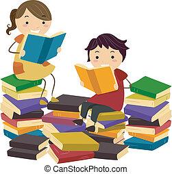 livros, stickman