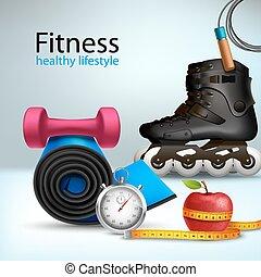 livsstil, bakgrund, fitness