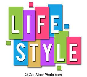 livsstil, färgglatt, stripes