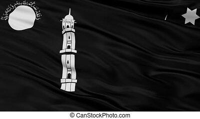 Liwa E Ahmadiyya Flag Closeup Seamless Loop - Liwa E...
