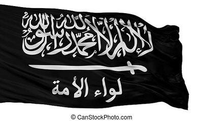 Liwaa Al Umma Flag Isolated Seamless Loop - Liwaa Al Umma...