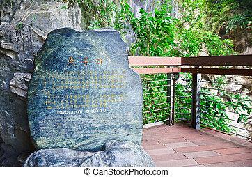 liwu, läufe, grotte, wohin, toroko, &, unten, sanjiaojui,...