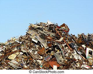 lixo, colina