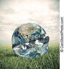 lixo, mundo