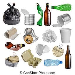 lixo, para, reciclagem