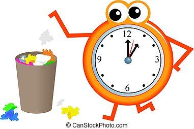 lixo, tempo