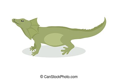 Lizard Cartoon Icon in Flat Design