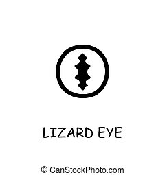 Lizard Eye flat vector icon