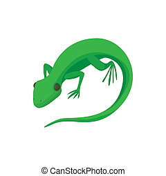 Lizard icon, cartoon style