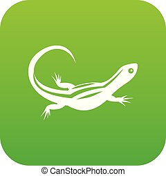 Lizard icon digital green