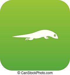 Lizard icon digital green