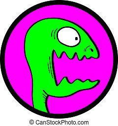 Lizard icon - Creative design of lizard icon