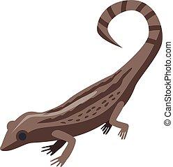 Lizard icon, isometric style