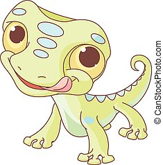Lizard - Illustration of very cute lizard