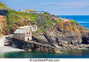 Lizard Point Cornwall England UK - View towards Lizard Point...
