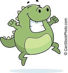 lizard, springe