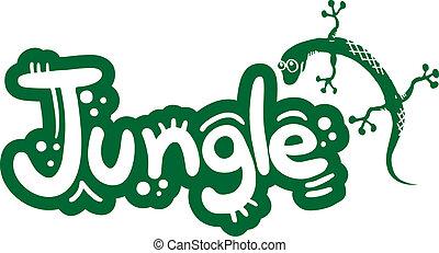 Lizzard and jungle - Creative design of lizzard and jungle