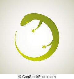 Lizzard Logo-01 - Lizard. Vector illustration of logo. ...