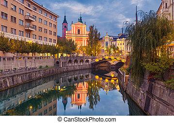 ljubljana, スロベニア, 夜