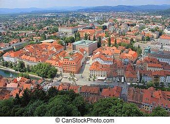 ljubljana, スロベニア, 歴史的, 中心, 城