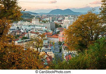 ljubljana, スロベニア, 町, 資本