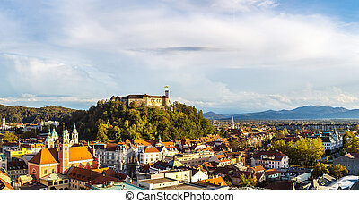 ljubljana, スロベニア, 空中写真
