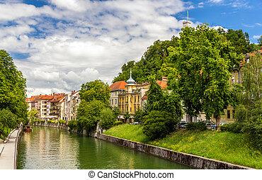 ljubljana, スロベニア, ljubljanica, 川, -