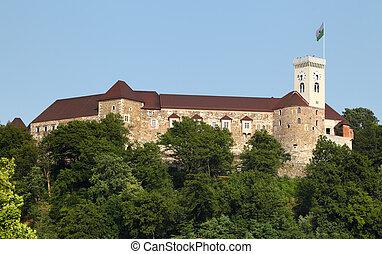 ljubljana, ヨーロッパ, スロベニア, 城