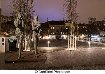 ljubljana, 彫像