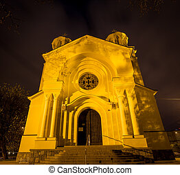 ljubljana, 教会, 夜