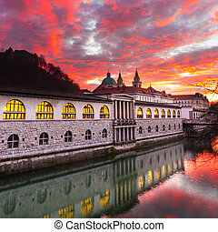 Ljubljana, capital of Slovenia, Europe.
