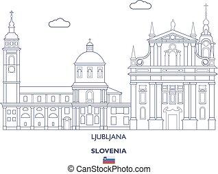 Ljubljana City Skyline, Slovenia - Ljubljana Linear City...
