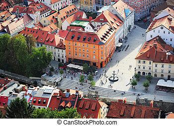 ljubljana, innerstad, slovenien