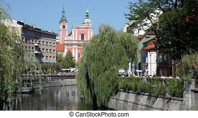 Ljubljana, Slovenia - Downtown Ljubljana, Slovenia.