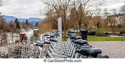 ljubljana, ville, vélo