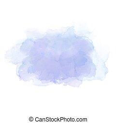 ljusblå, vattenfärg, stains., elegant, element, för, abstrakt, artistisk, bakgrund.