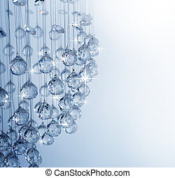 ljuskrona, kristall, nymodig