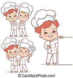 lkids as little chefs