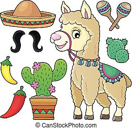 Llama and various objects set 1
