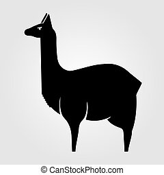 Llama icon isolated on white background