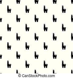 Llama pattern vector seamless