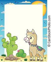 Llama theme frame 1 - eps10 vector illustration.