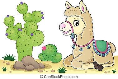 Llama theme image 4 - eps10 vector illustration.