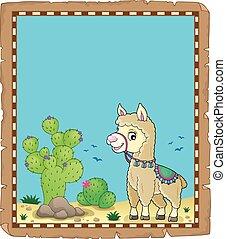 Llama theme parchment 1